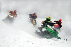 Heading home. Taken at kirkland lake snowcross Royalty Free Stock Image