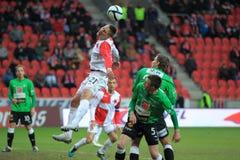 Heading Milan Skoda - Slavia Prague Royalty Free Stock Photography