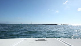 Heading Out to Sea from Harbor stock video footage
