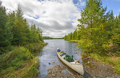 Heading out on a wilderness Lake Stock Photography