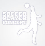 Heading Soccer Football Player Concept Silhouette Royalty Free Stock Photography