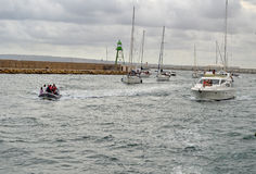 Heading tillbaka till hamnen Royaltyfri Foto