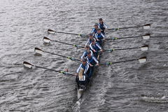 Headington  races in the Head of Charles Regatta Women's Youth Eights Stock Image