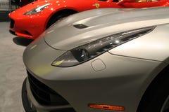 Headlamp автомобиля спорт взгляда со стороны детали новый Стоковая Фотография RF