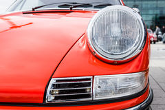 Headlamp автомобиля спорт Порше 911, 1970 Конец-вверх Стоковые Фото