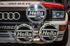 Headlamp дороги и автомобиля Audi Quattro ралли, крупного плана Стоковое Изображение RF