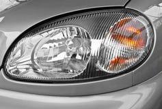 Headlamp. The car headlamp, close up royalty free stock photography