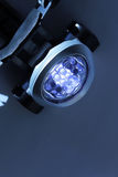 LED headlamp. Headlamp with blue LEDs Stock Photography