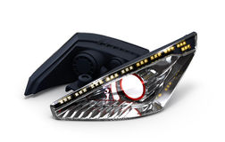 Headlamp car isolated on white background 3d illustration Stock Photography