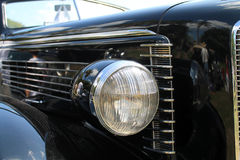 Headlamp classic american car Royalty Free Stock Photo