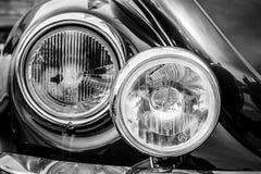 Headlamp of a compact car Volkswagen Beetle Cabrio, 1976. Stock Photo