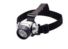 Headlamp flashlight Stock Photo