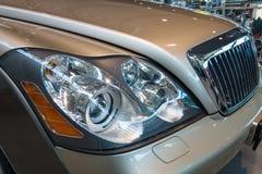 Headlamp of full-size luxury car Maybach 57S, 2006 Stock Image