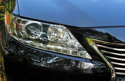 Headlamp. Light in front of the vehicle Stock Photography