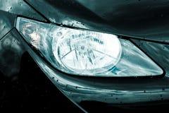 Headlamp on luxury car. Headlamp or headlight on luxury car royalty free stock images