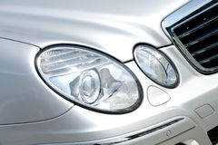 Headlamp on Mercedes Benz Stock Photography
