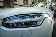 Headlamp of mid-size luxury crossover SUV Volvo XC90. Stock Images