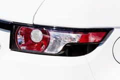 Headlamp on a modern white expensive  white   car Royalty Free Stock Images