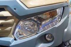 Headlamp of the truck. Headlamp of the new all-roader truck royalty free stock photo