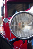 Headlamp of retro car background Royalty Free Stock Images