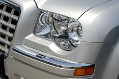 Headlamp on Rolls Royce Royalty Free Stock Photos