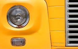 Headlamp of school bus Royalty Free Stock Photo