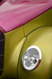 Headlamp and striking two tone paint on custom car Stock Image