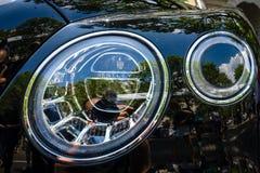 Headlamp of ultra luxury crossover SUV Bentley Bentayga, 2016. Royalty Free Stock Photos