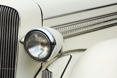 Headlamp of vintage car Stock Images