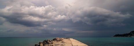 Headland на заливе Alykes в Zante стоковая фотография