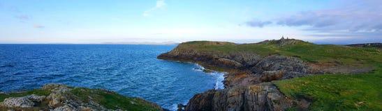 Headland Ручка-y-цепи, Уэльс, Великобритания стоковая фотография rf