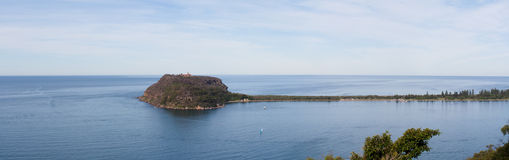 Headland Barrenjoey - панорамный Стоковое фото RF