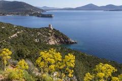 Headland of Capo Caccia - Sardinia - Italy stock images