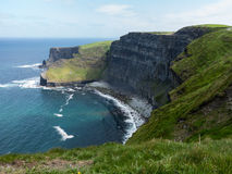 Headland at Cliffs of Moher stock image