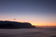 Headland of Hanalei on island of Kauai Royalty Free Stock Image