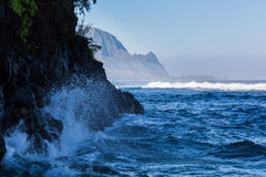 Headland of Hanalei on island of Kauai Royalty Free Stock Image