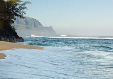 Headland of Hanalei on island of Kauai Royalty Free Stock Photos