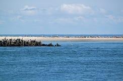 Headland on Helgoland Stock Image