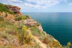 Headland Kaliakra, побережье Чёрного моря болгарина стоковые фото