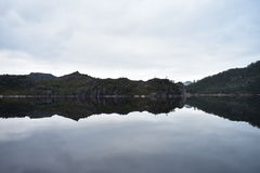 Headland on Lake Plimsoll. Early morning Reflections on Lake Plimsoll Royalty Free Stock Photography