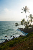 Headland Mirissa Sri Lanka Coast High Key Royalty Free Stock Photos