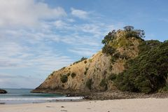 Headland at New Chum Beach New Zealand Royalty Free Stock Photography
