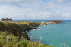 The Headland at Newquay Cornwall England UK Royalty Free Stock Images