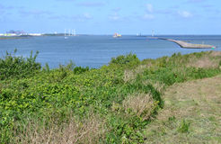 Headland at Rozenburg. Stock Photos