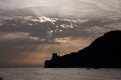 Headland Sunset Stock Photography