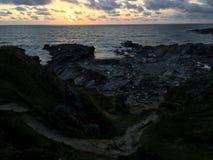 Headlands Корнуолла Стоковые Изображения RF