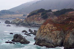Headlands-Central California. Photo of coastline of central California near Big Sur Stock Image