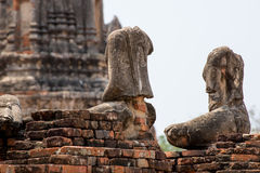 Headless αγάλματα του Βούδα, Ayutthaya Στοκ Εικόνες