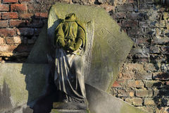The headless Angel on the old Prague Cemetery Royalty Free Stock Photography
