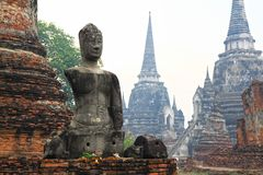Headless and armless Buddha image in Ayutthaya Stock Photos